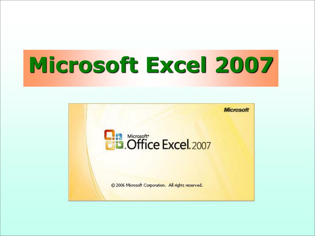 microsoft excel 2007 l.