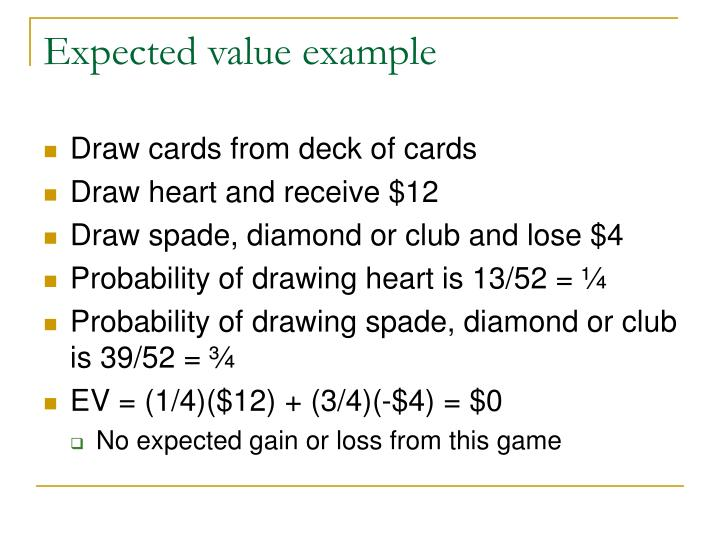 Expected value example