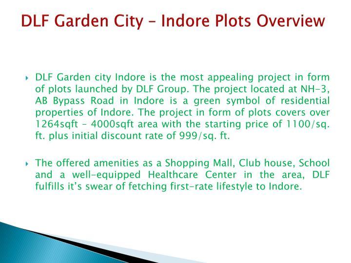 Dlf garden city indore plots overview