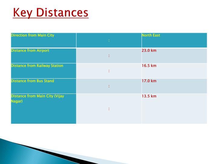 Key distances