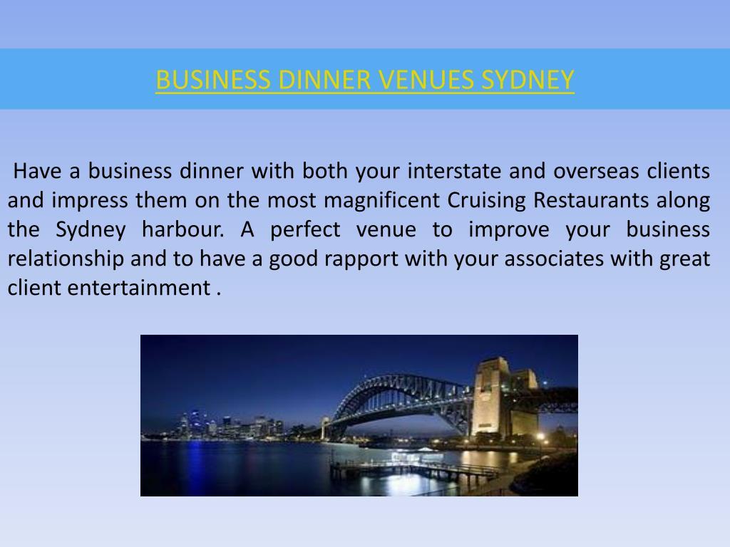 business dinner venues sydney l.
