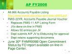 ap fy2008