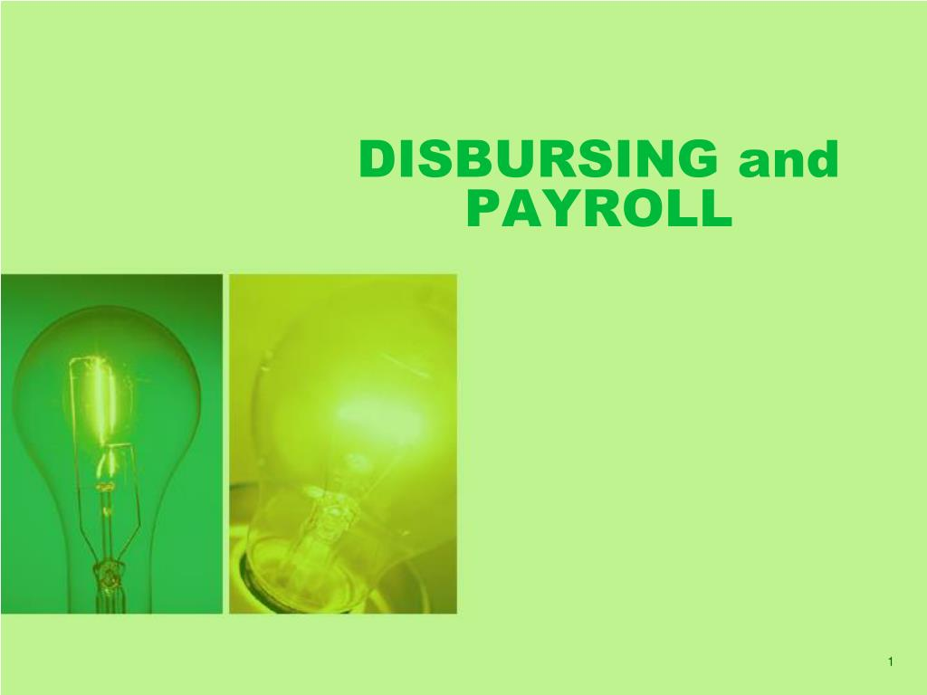 disbursing and payroll l.