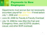payments to new employees