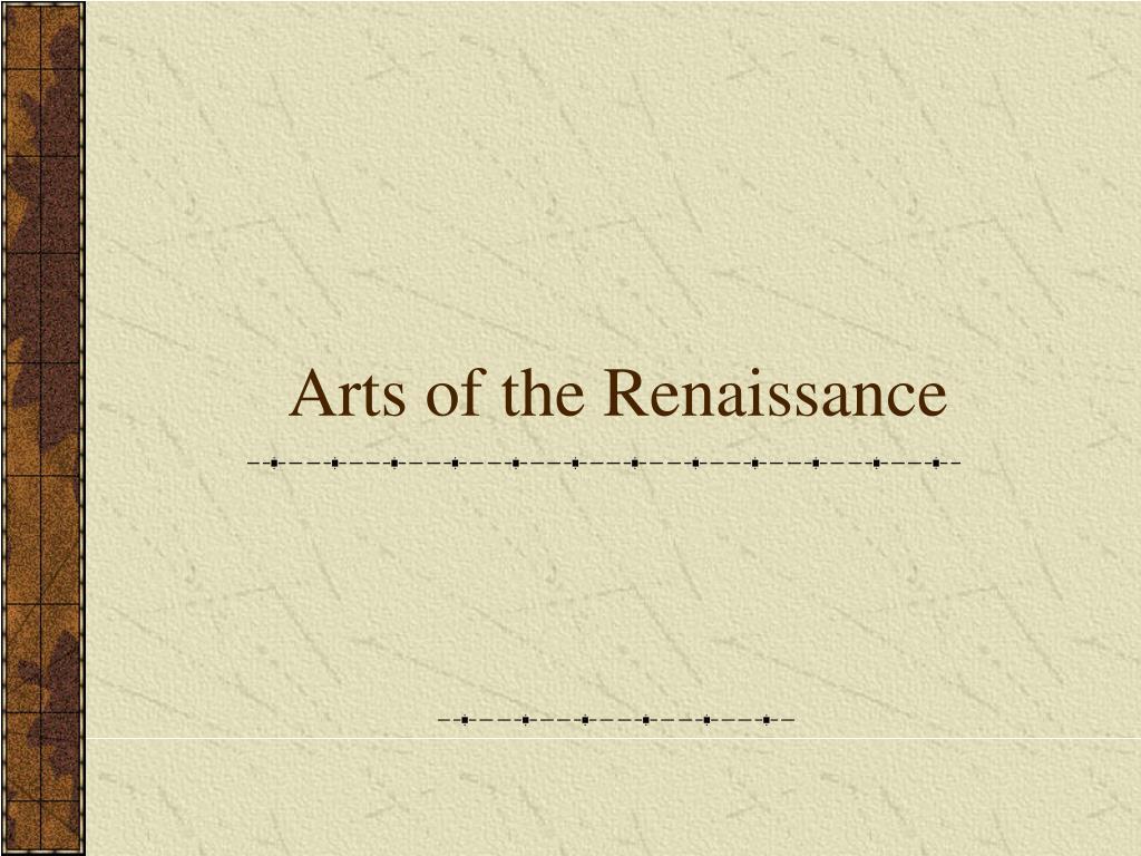 arts of the renaissance l.
