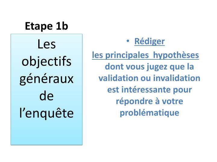 Etape 1b