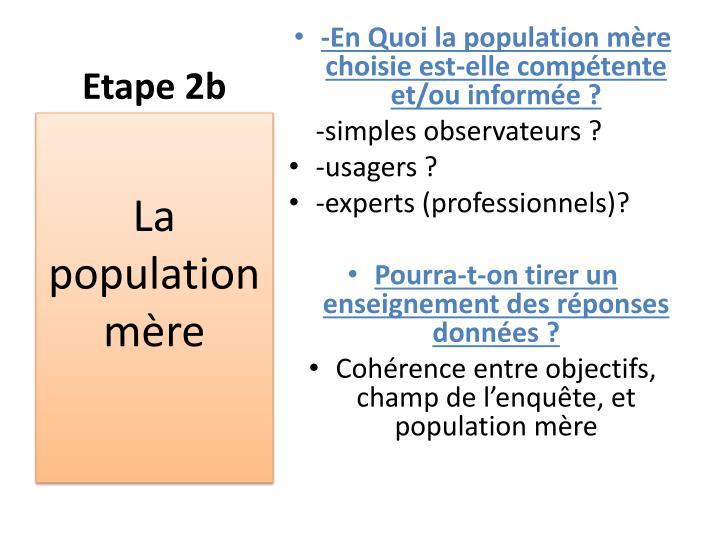Etape 2b