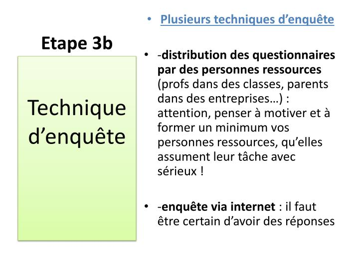 Etape 3b