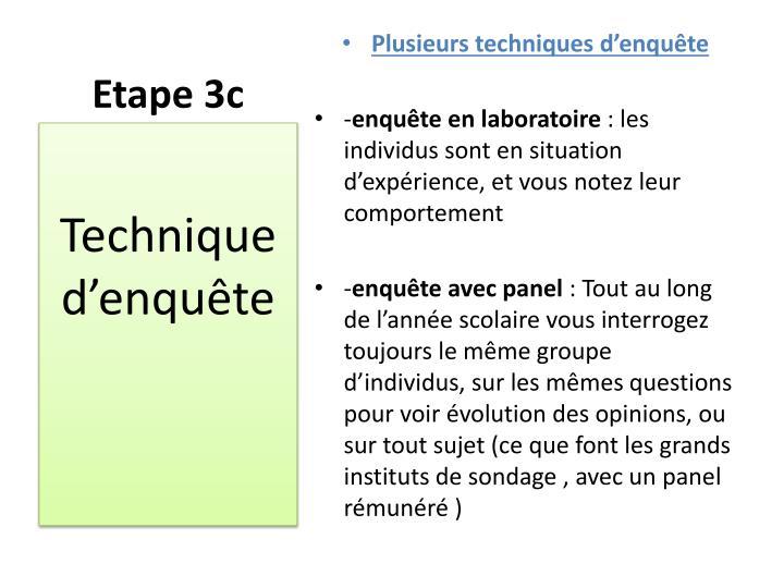 Etape 3c