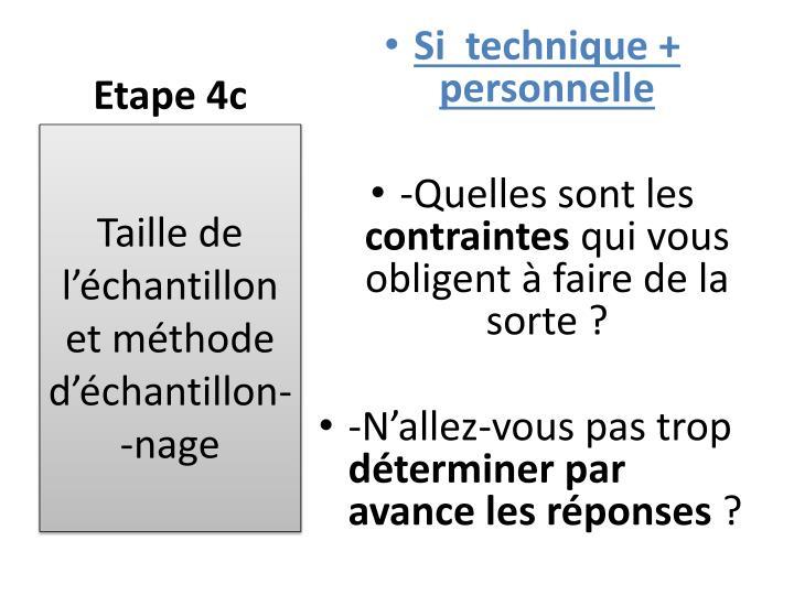 Etape 4c