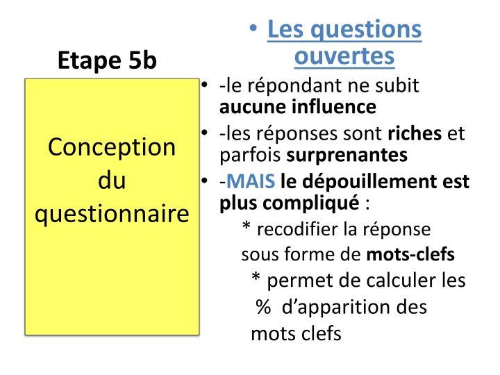 Etape 5b