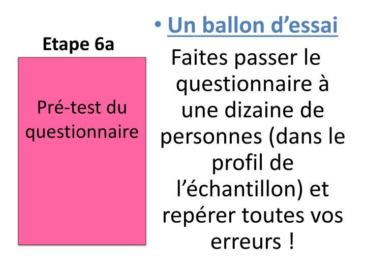 Etape 6a