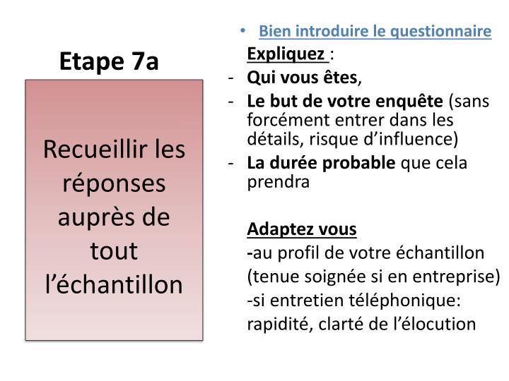Etape 7a