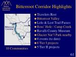 bitterroot corridor highlights
