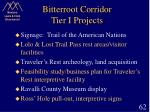 bitterroot corridor tier i projects