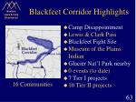 blackfeet corridor highlights