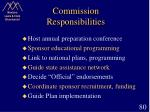 commission responsibilities