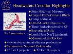headwaters corridor highlights