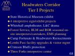 headwaters corridor tier i projects