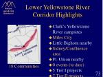 lower yellowstone river corridor highlights