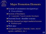 major promotion elements