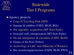 statewide tier i programs54