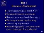 tier 1 business development
