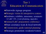 tier 1 education communication