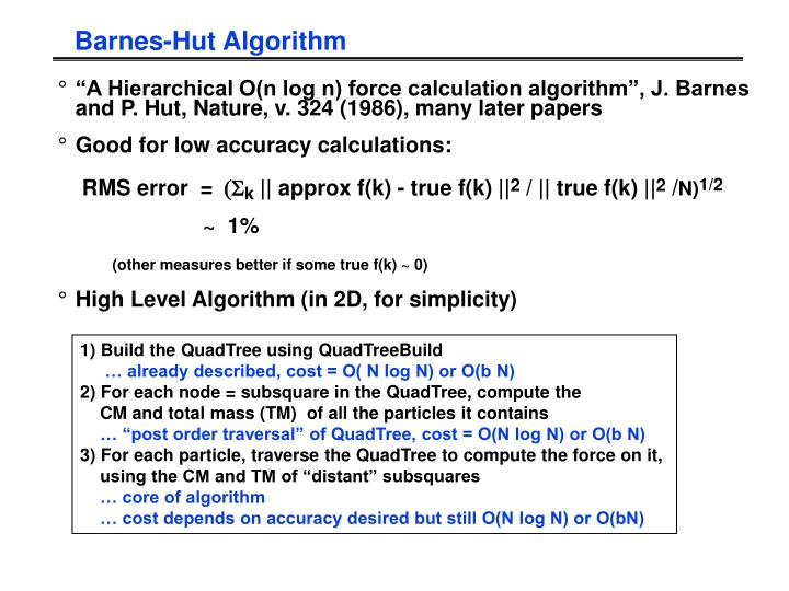 Barnes-Hut Algorithm