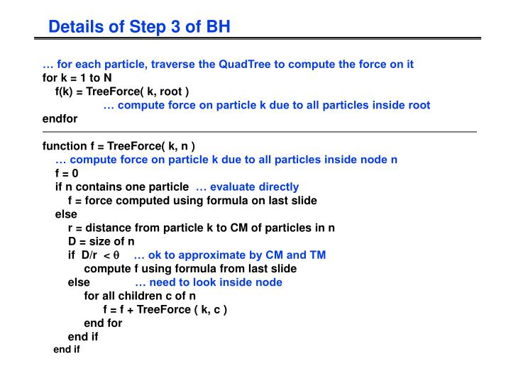 Details of Step 3 of BH