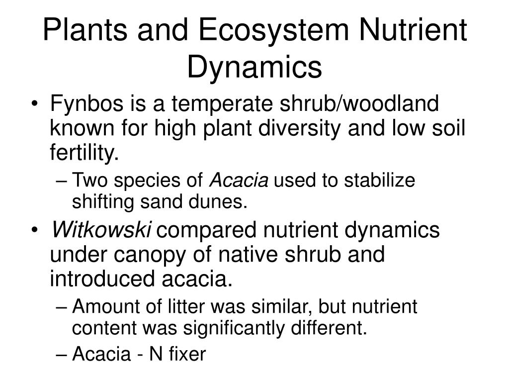 Plants and Ecosystem Nutrient Dynamics