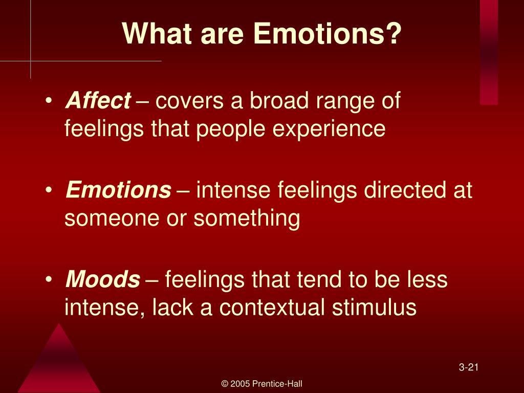 Range of feelings