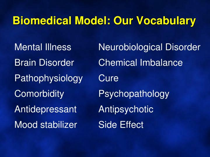 Biomedical Model: Our Vocabulary