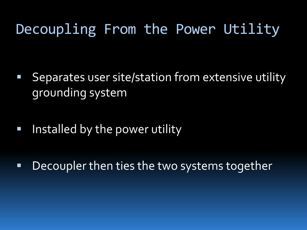 Decoupling From the Power Utility