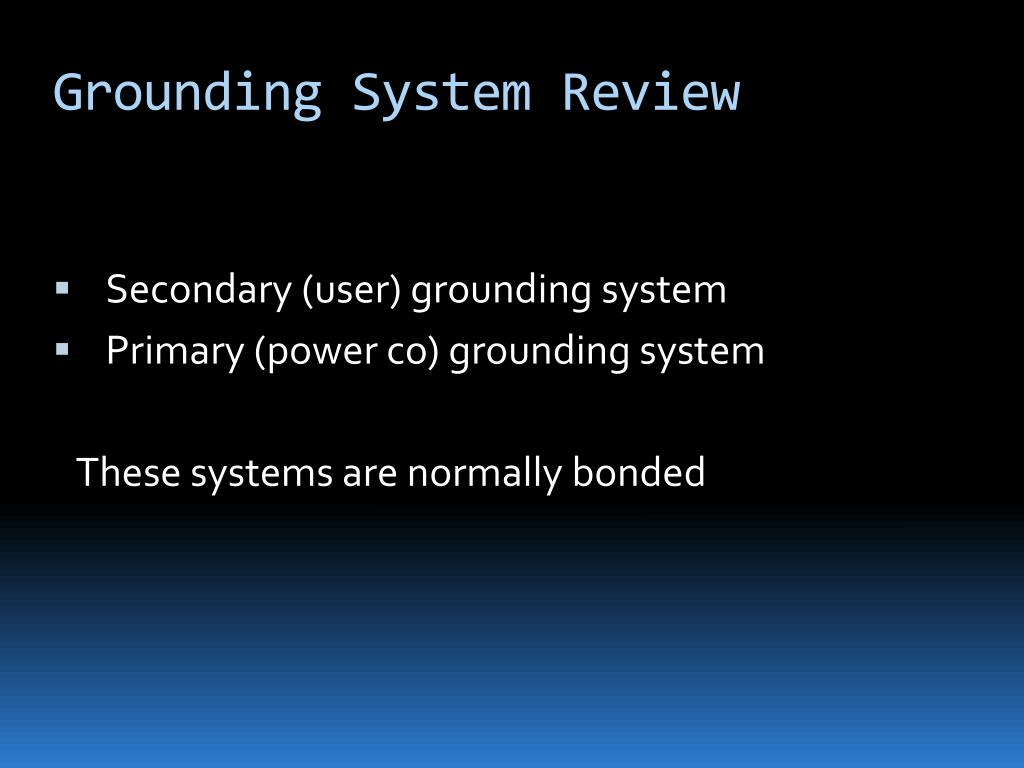 Grounding System Review