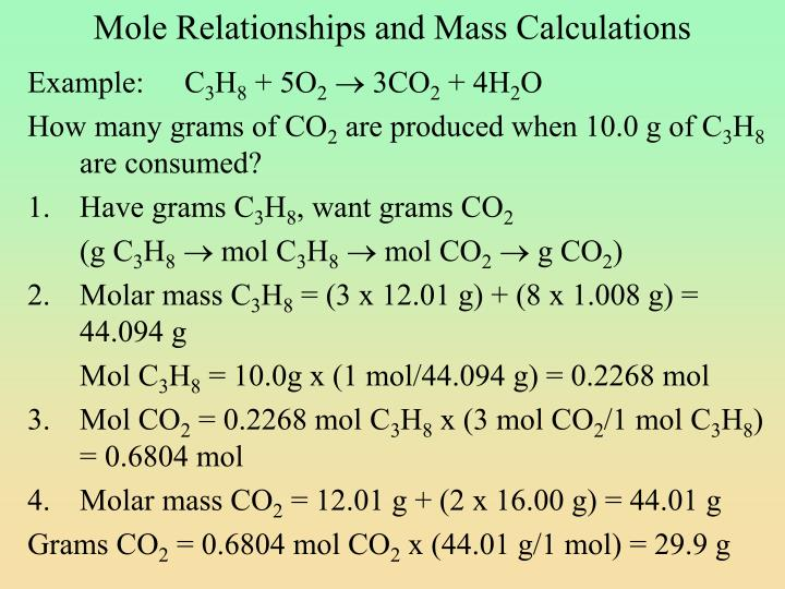 PPT The Mole And Molar Mass PowerPoint Presentation ID 1377568
