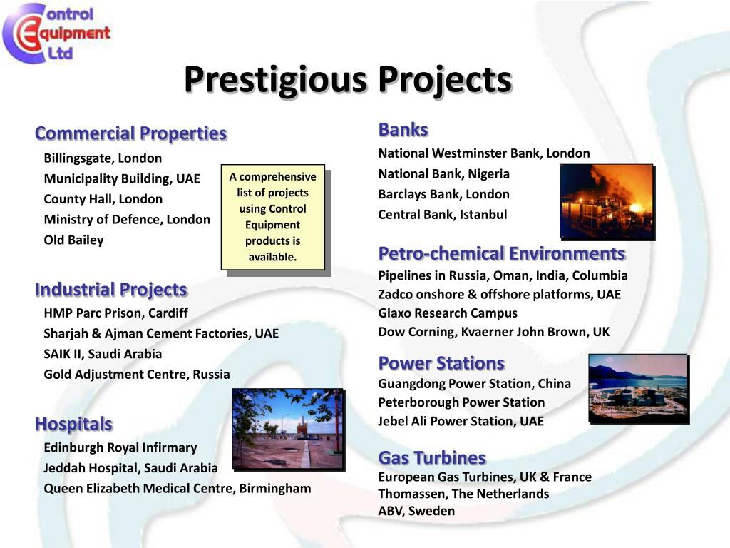 Prestigious Projects