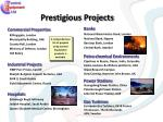 prestigious projects