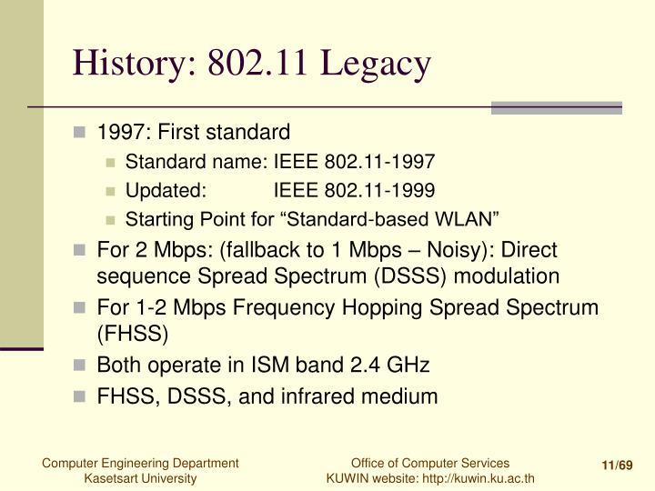 History: 802.11 Legacy