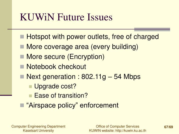 KUWiN Future Issues