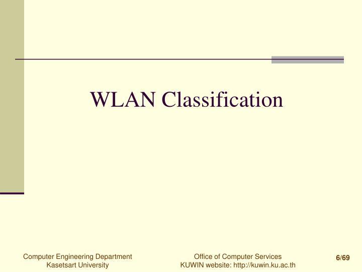WLAN Classification