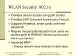 wlan security 802 1x