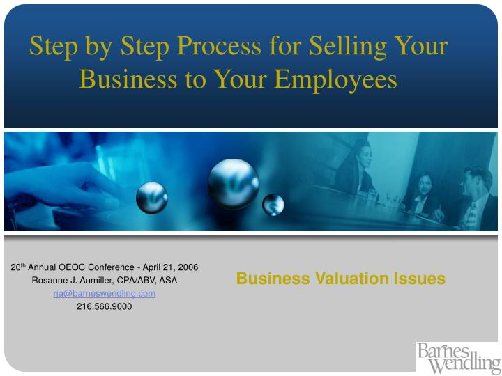 Business valuation issues
