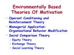 environmentally based theories of motivation