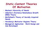 static content theories of motivation