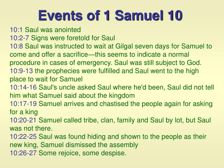 Events of 1 Samuel 10