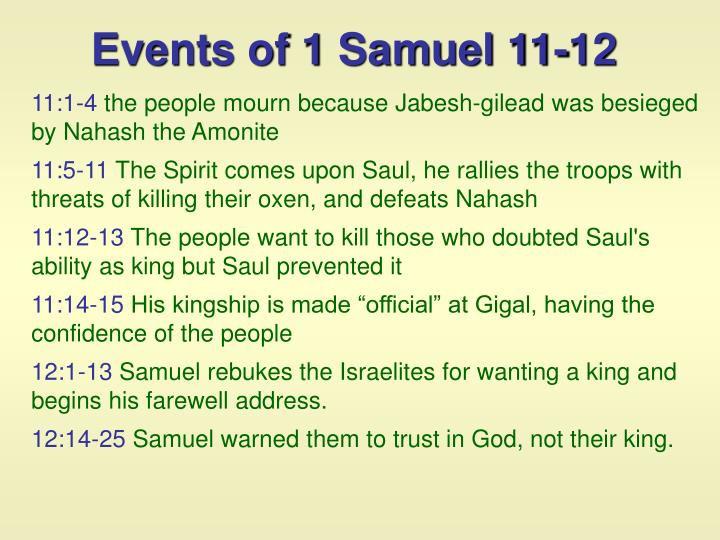 Events of 1 Samuel 11-12