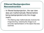filtered backprojection reconstruction
