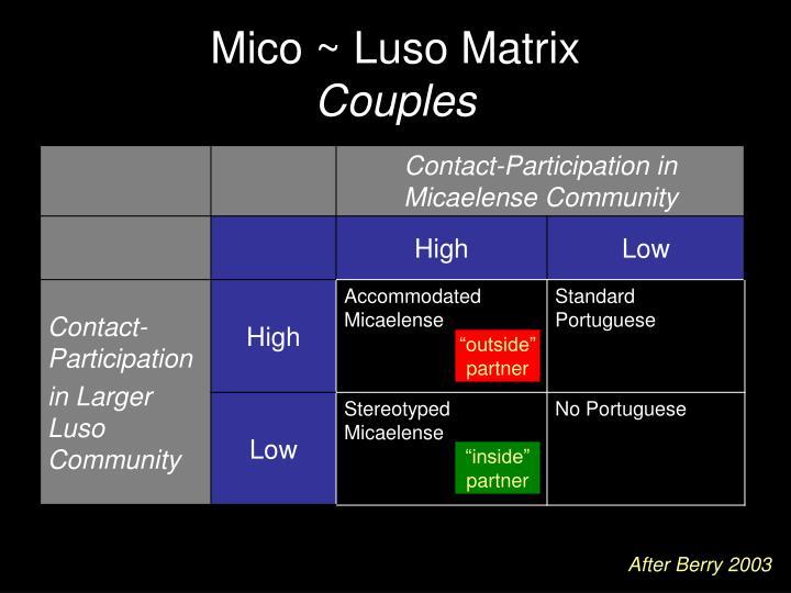 Mico ~ Luso Matrix