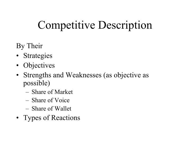 Competitive Description